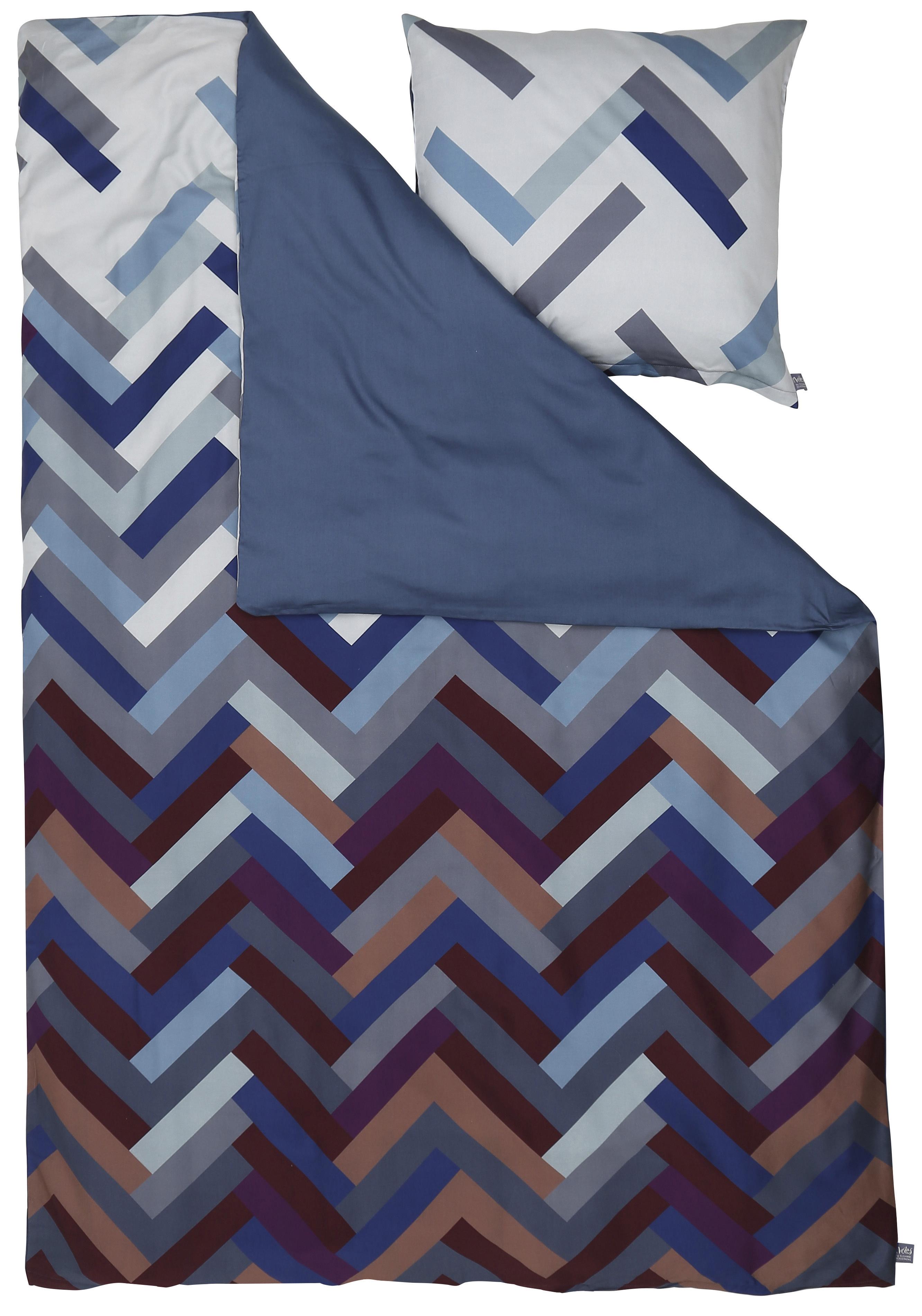 Susanne Schjerning sengetøj - Herringbone - Indigo