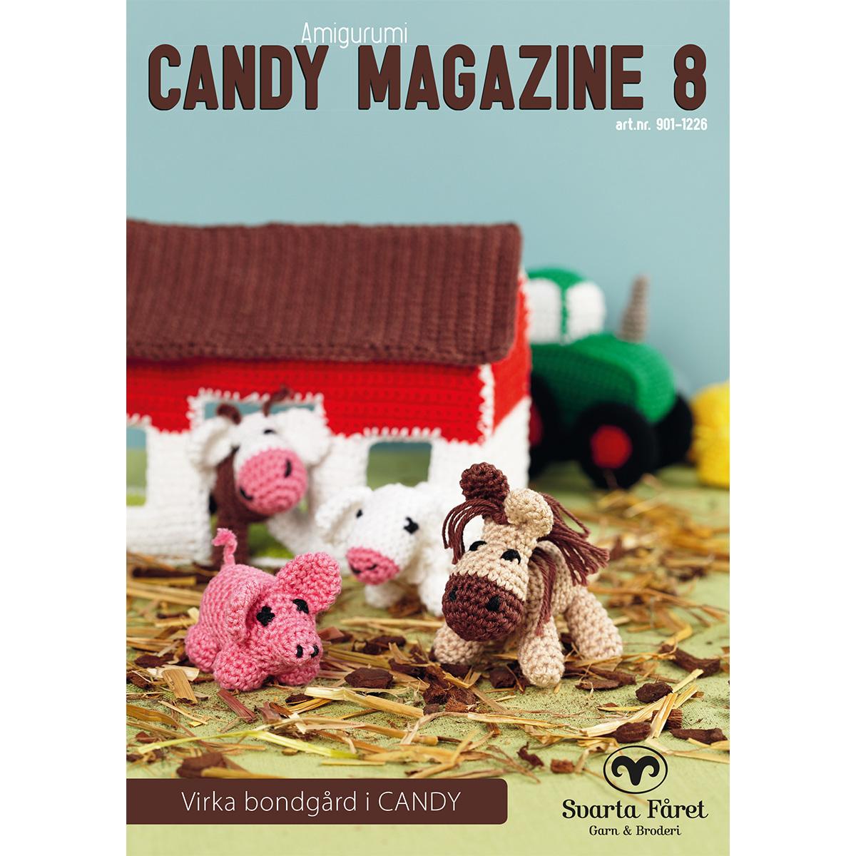Image of   Svarta Fåret opskriftshæfte - Candy Magazine 8 - Bondegårdsfigurer