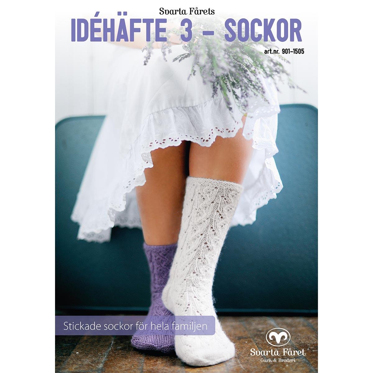 Image of   Svarta Fåret opskriftshæfte - Idehæfte 3 - Sokker