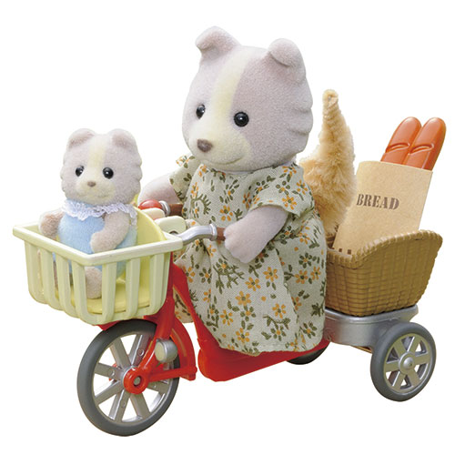Image of   Sylvanian Families figur - Cykeltur med mor
