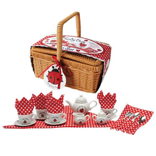 Image of   Tesæt i picnickurv