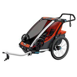 Image of   Thule cykelanhænger - Chariot Cross 1 - Orange/mørkegrå