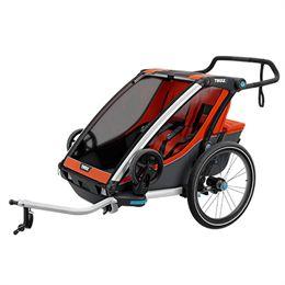 Thule cykelanhænger - Chariot Cross 2 - Orange/mørkegrå