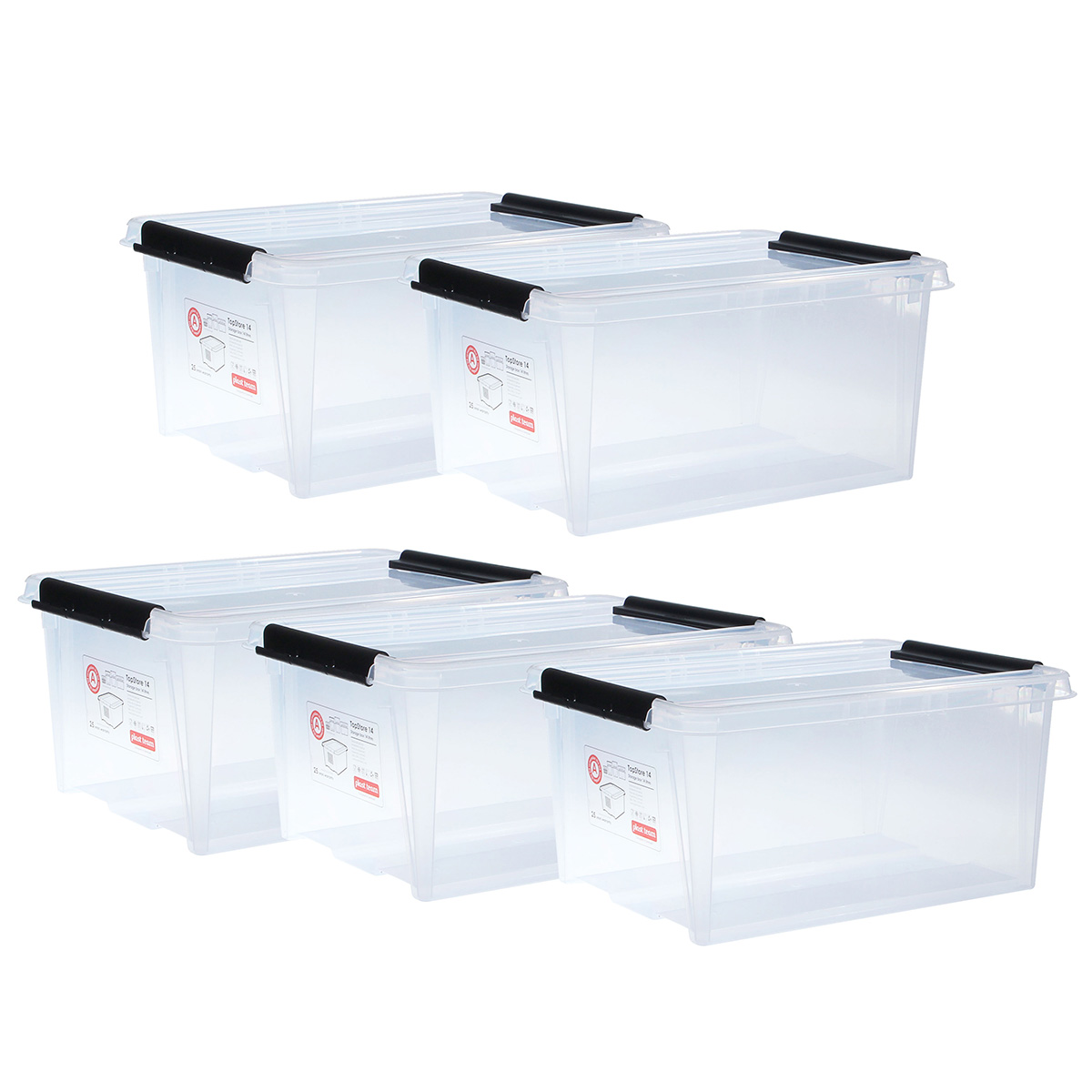 Top store opbevaringskasser - 14 liter