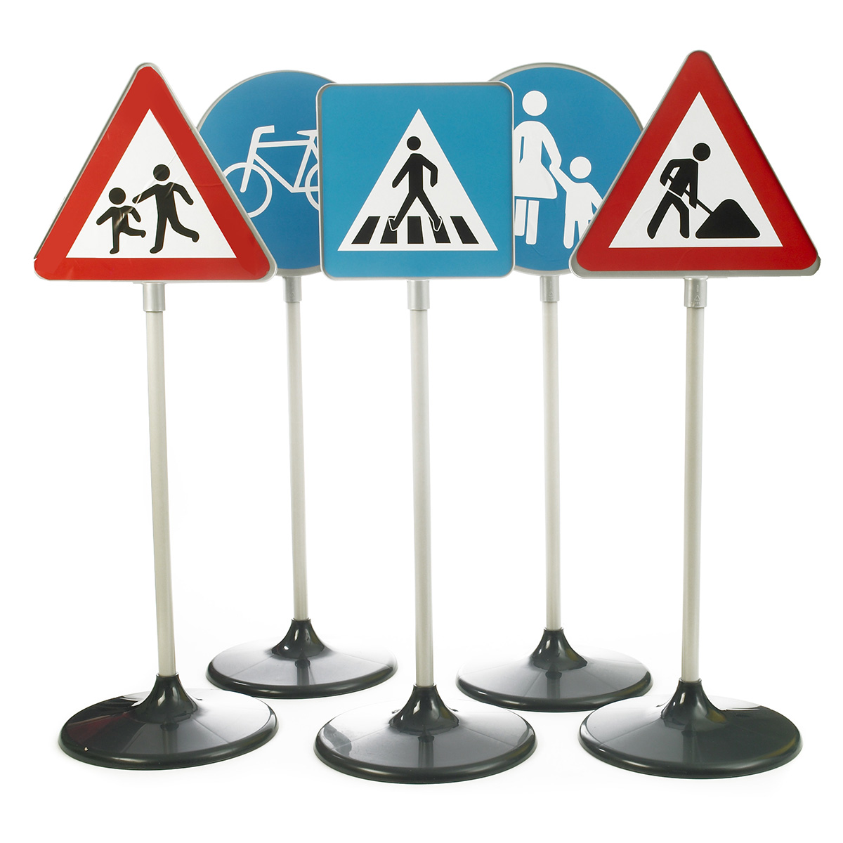Image of   Trafikskilte i børnehøjde - 5 stk.