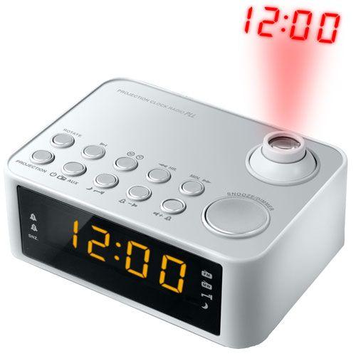 Trident Traders vækkeur - Athens Clockradio med projektion - Grå - Coop.dk