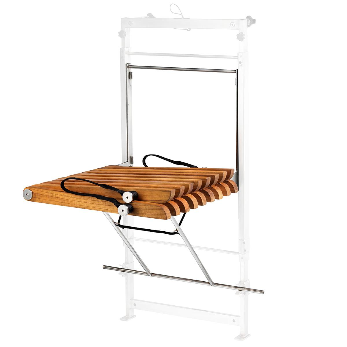 Upon stol (venstrehængt) - Teaktræ Sammenklappeligt møbel til ...