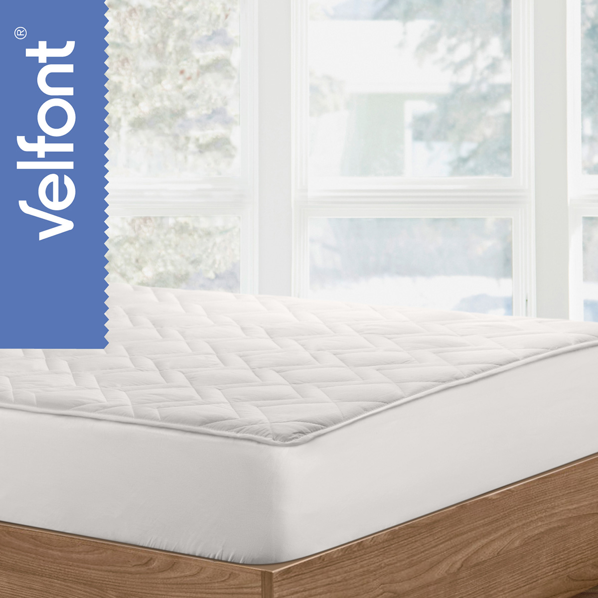 Velfont junior-rullemadras - Wool Cotton - Hvid