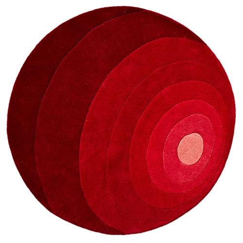 Image of   Verner Panton gulvtæppe - Luna - Rød